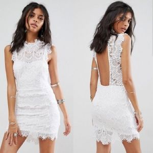 NWT Free People white lace bodycon dress XS